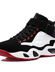 Femme-Sport-Rouge / Blanc-Talon Plat-Bout Arrondi / Ballerines-Chaussures d'Athlétisme / Ballerines-Tissu / Polyuréthane