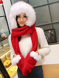 Women PU Scarf,Cute Rectangle