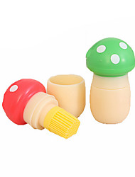 Mushrooms Shape Multi-function Non Stick Oil Silicone Dish Washing Cleaning Brush Kitchen Tools(Random Color)