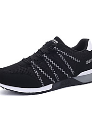 Men's Shoes Tulle Casual Sneakers / Clogs & Mules Casual Indoor Court Flat Heel Others / Lace-up Blue / Gray / Black and