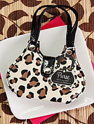 Recipient Gifts - 1Box/Set, Chic Cheetah Animal-Print Purse Four-Piece Manicure Set Wedding Favors