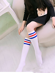 Girls Socks & Stockings,All Seasons Cotton Blends Black / White