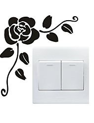 AYA™ DIY Wall Stickers Wall Decals, Rose Type PVC Switch Panel Stickers 13*14cm