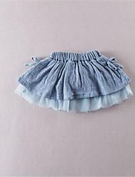 Robe Fille de Couleur Pleine Décontracté / Quotidien Coton Eté Bleu / Marron / Rouge