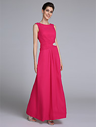 Lanting Bride® Sheath / Column Mother of the Bride Dress Floor-length Sleeveless Chiffon with Crystal Detailing / Side Draping
