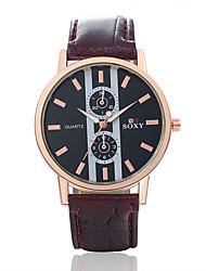 Masculino Relógio de Moda Quartz Relógio Casual Couro Banda Pendente Preta / Marrom