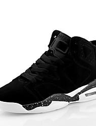 Sapatos Masculinos-Tênis-Preto / Branco / Preto e Dourado / Preto e Vermelho-Microfibra-Ar-Livre / Casual / Para Esporte