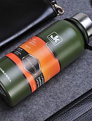 1pc Thermos sport capacité de 1300 ml tasse bouteille en acier inoxydable couleur aléatoire
