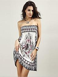 In Colour Women's Slash Neck Sleeveless Knee-length Dress-44052378658