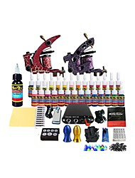 Tattoo Machine Double Machine Suit Embroidered Dragon Tattoo Equipment (Note: Set The Handle Random Hair Color)
