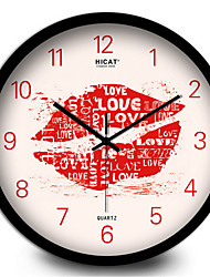 Sexy Lips Mute Living Room Wall Clock