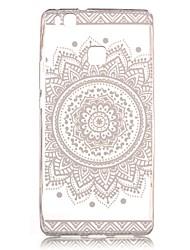 de volta Transparentes / Estampa Lace Impressão TPU Macio Transparent Case Capa Para Huawei Huawei P9 / Huawei P9 Lite