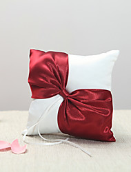 Burgundy Bow Ring Pillow