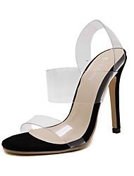 Damen-High Heels-Lässig-PU-StöckelabsatzSchwarz