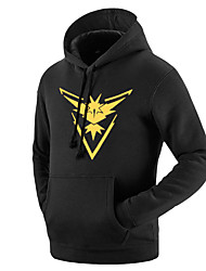 Inspirado por Pocket Monster Pequeno monstro Vídeo Jogo Fantasias de Cosplay Hoodies cosplay Geométrica / Estampado Preto Manga Comprida