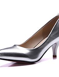 Damen-High Heels-Kleid / Party & Festivität-Kunstleder-Kitten Heel-Absatz-Absätze / Pumps / Spitzschuh-Blau / Rosa / Silber / Gold