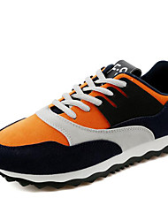 Herren-Flache Schuhe-Sportlich-PU-Flacher Absatz-Komfort-Schwarz Blau Orange