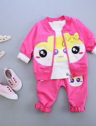 Baby Casual/Daily Print Clothing Set,Cotton Fall-