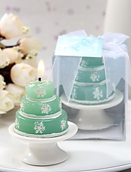 Recipient Gifts - Winter Snowflake Cake Design Candle Chinese DIY Wedding Party Favors