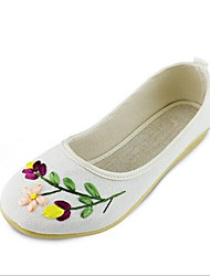 Women's Flats Summer Comfort PU Casual Flat Heel Others White