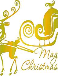 Animales / Navidad / Romance Pegatinas de pared Calcomanías de Aviones para Pared Calcomanías Decorativas de Pared,vinyl Material