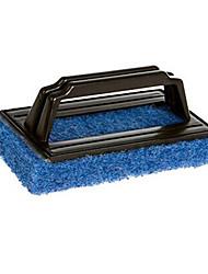 (Cor aleatória) escova de limpeza 1pc esponja escova forte de limpeza de descontaminação com o punho ferramenta de limpeza da cozinha