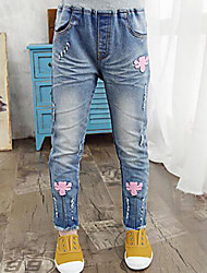 Girl's Casual/Daily Patchwork Pants / Jeans,Rayon Spring / Fall Blue