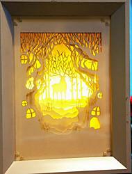 nous branchons papier créatif conduit sculpture 3d décoratif lumière nuit nuit de Noël de wapitis