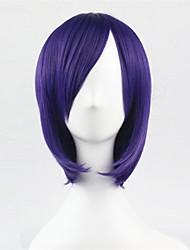 europa e os estados unidos uma cor cosseno peruca bobo roxo de 10 polegadas de alta temperatura peruca de seda reta cabelo curto