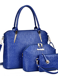 Women PU Formal / Casual / Office & Career / Shopping Tote White / Blue / Gold / Black