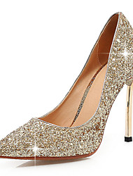 Women's Shoes Glitter Stiletto Heel Basic Pump Pointed Toe Heels Wedding Shoes Party Dress Red Silver Rose Gold