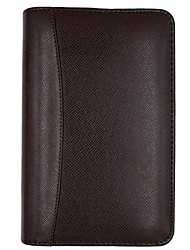 A6 High-end Business Leather Zipper Notebook with Calculator and Business Card Holder(Random Colors)