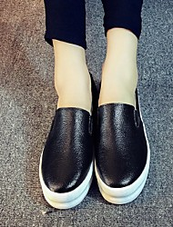 Heels Spring Fall Leather Casual Platform Others Black White