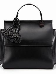 Stiya Fashion Vintage Tassel Charm Multifunction Large Capacity Lady Shoulder Top Grade Genuine Leather Sling Bag
