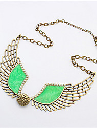 Fashion Hollow Wings Necklace Sweater Chain