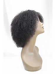 Short Human Hair Wigs Kinky Curly Unprocessed Virgin Brazilian Glueless None Lace Machine Made Human Hair Wigs