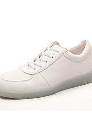 женская обувь водить USB зарядка кожзаменителя моды кроссовки на открытом воздухе / спортивная / вскользь золота