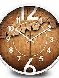 Rond Moderne/Contemporain Horloge murale,Autres Métal 30*30*7
