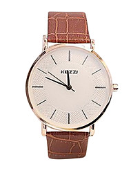 Women's Casual Fashion Leather Band Quartz Watch