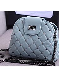 Women PU Casual Shoulder Bag Pink / Blue / Gold / Gray / Black