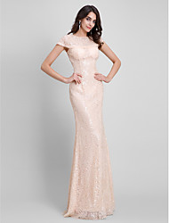 TS Couture® Formal Evening Dress Sheath / Column Jewel Floor-length Sequined with Sequins