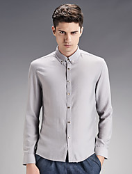 Men's pure color white long sleeve shirt business and leisure fashion new autumn and winter SY-1610