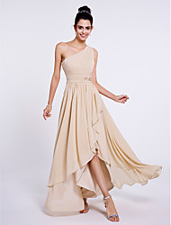 Lanting Bride® Asymmetrical Chiffon Bridesmaid Dress A-line One Shoulder with Side Draping