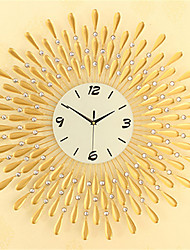 Golden Modern Style Fashion Creative Large Diamond Iron Wall Clock