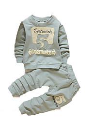 малыш Набор одежды,На каждый день,С принтом,Хлопок,Осень-