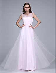 2017 Lanting Bride® Floor-length Tulle Bridesmaid Dress - Straps with Sash