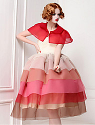 Pour My Fair Lady® Femme Col de Chemise Sans Manches Au dessus des genoux Robes-1302023