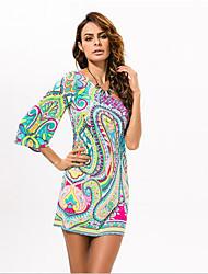 In Colour Women's Slash Neck Sleeveless Knee-length Dress-533211195378
