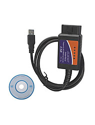 usb OBD2 elm327 automotive diagnostische test lijn, plastic omhulsel