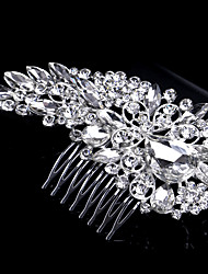 Luxury Style 12*6cm Hair Combs with Flower Rhinestone Crystal for Lady Wedding Party